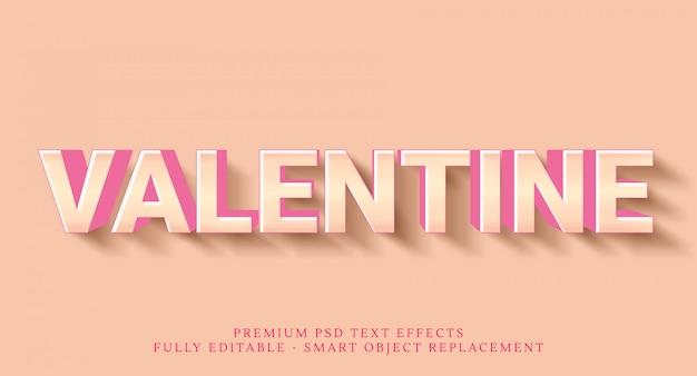 Счастливый день святого валентина текстовый эффект