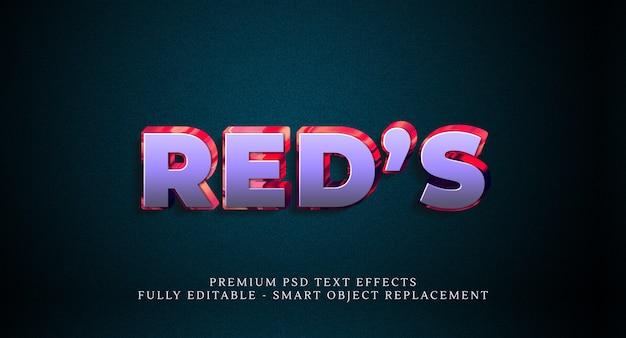 赤のテキストスタイル効果