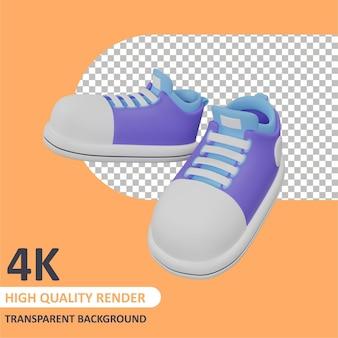 캐릭터 모델링의 신발 한 켤레 3d 렌더링