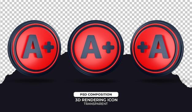 Плюс 3d визуализация значок иллюстрации