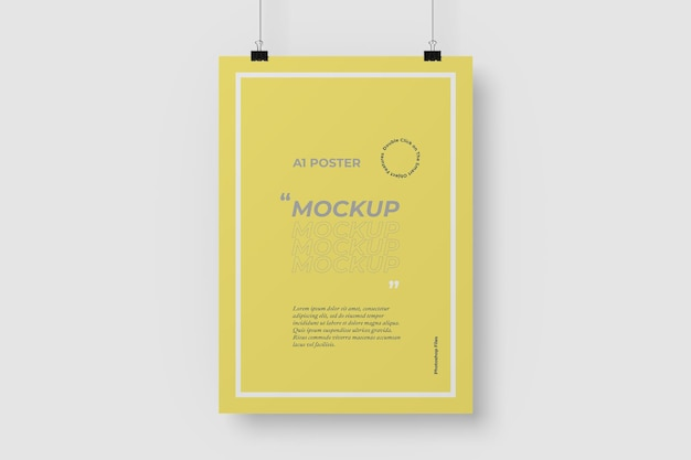 A1 hanging poster mockup