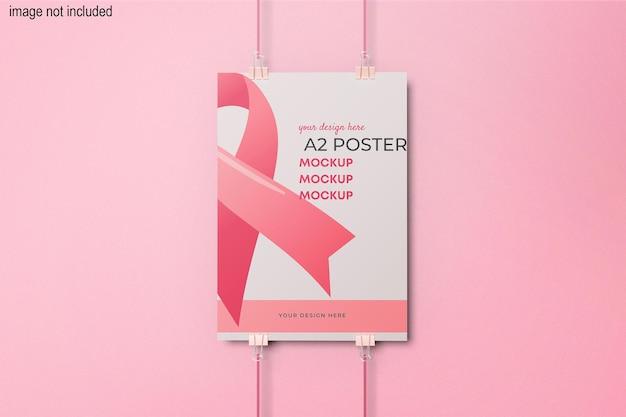 A2 교수형 포스터 목업