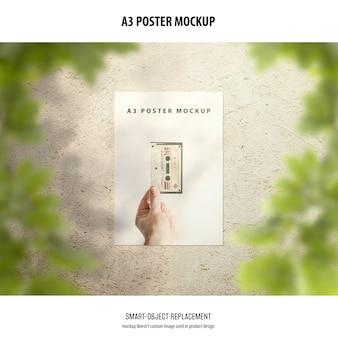 A3ポスターモックアップ