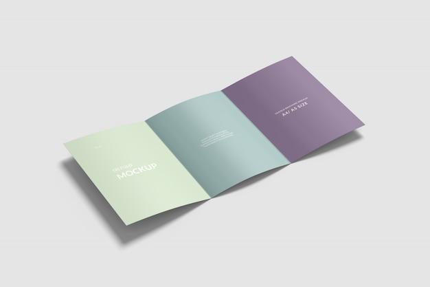 A4/ a5 tri fold brochure mockup