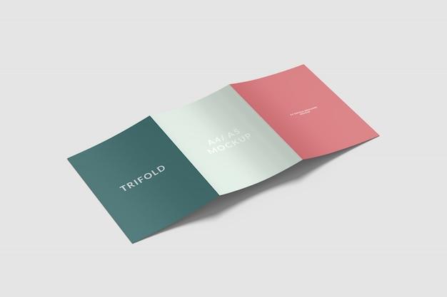 A4/ a5 trifold brochure mockup