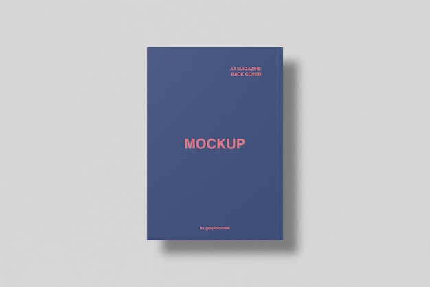 A4 back cover magazine mockup