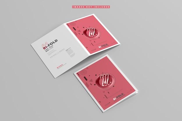 A4 bi-fold brochure mockup