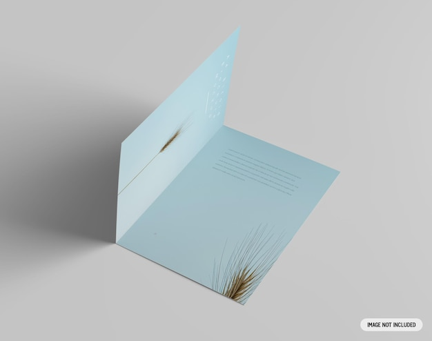 A4 이중 브로셔 모형 프리미엄 PSD 파일