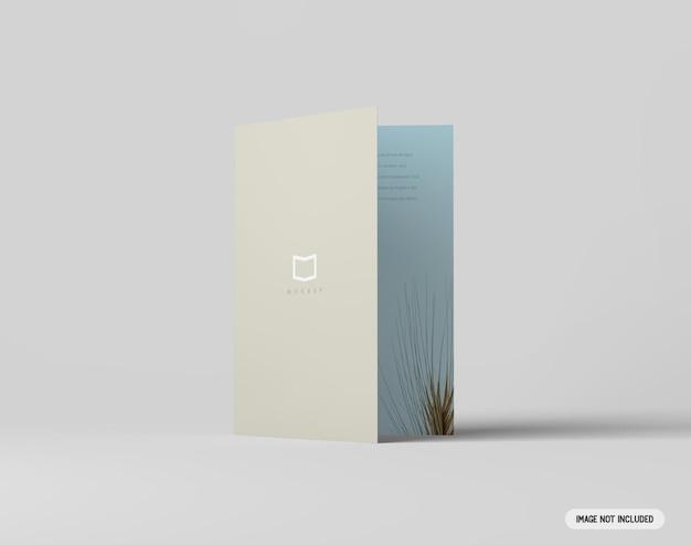 A4二つ折りパンフレットのモックアップ
