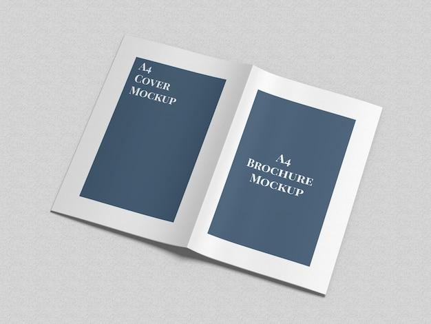 A4パンフレット2つ折りモックアップ