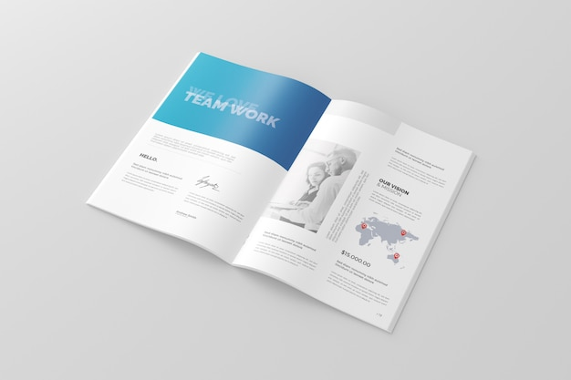 A4 brochure / catalogue mockup