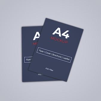 A4パンフレットカバーモックアップpsd