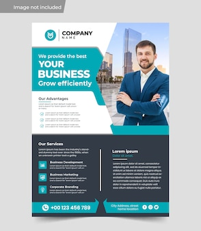 A4 business efficiency increase flyer design template