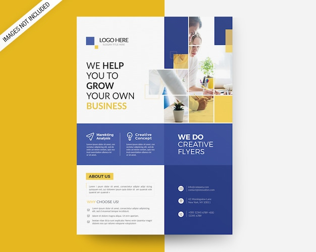 A4 business flyer template