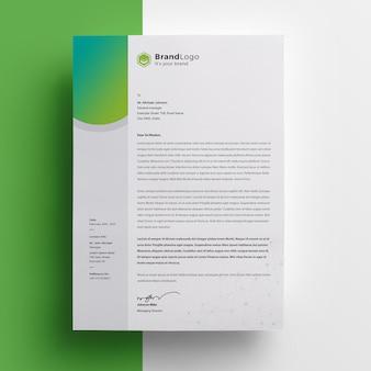A4 clean gradient letterhead design Premium Psd