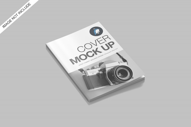 A4カバーと開いた雑誌のモックアップトップアングルビュープレミアムpsd