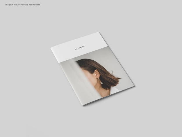 Мокап брошюры формата а4