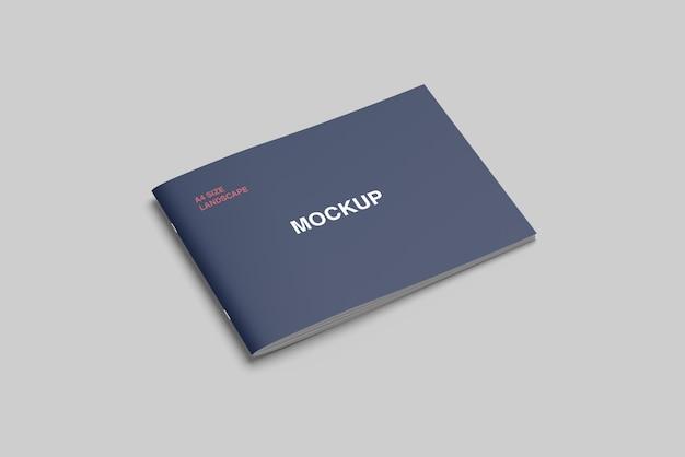 A4 cover landscape brochure/ magazine mockup