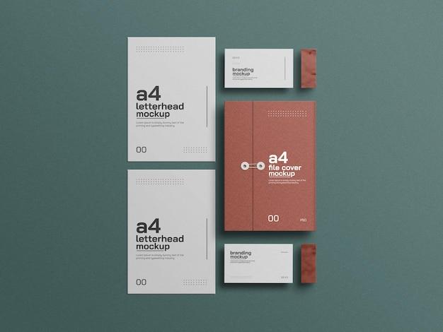 Обложка для папок формата а4 с макетом визитки