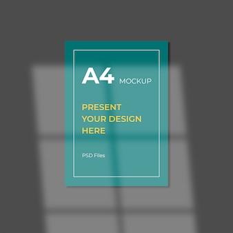 A4 편집 가능한 psd 모형