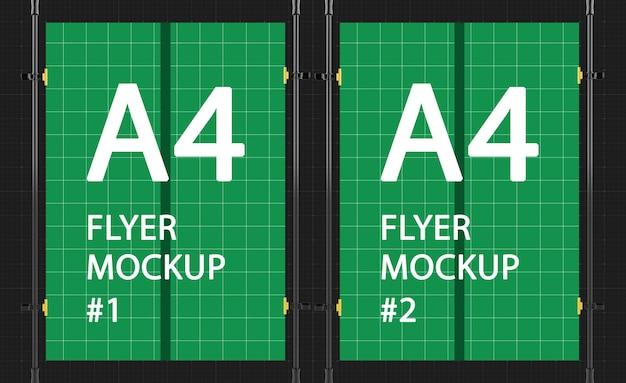 A4 flyer hanging mockup design rendering