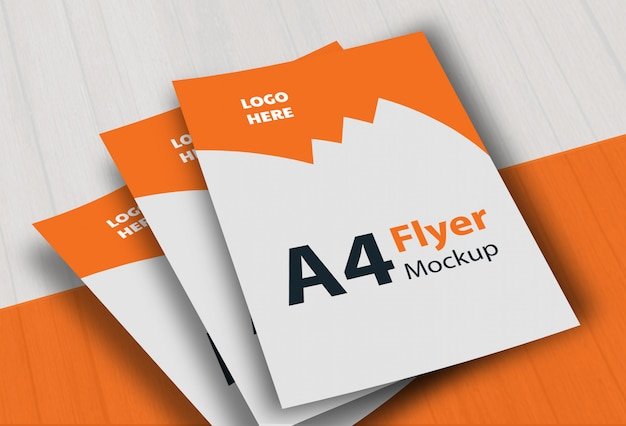 A4 flyer mockup template