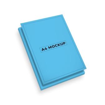 A4 전단지 또는 문서 모형 디자인