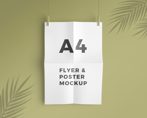 A4 flyer and poster mockup