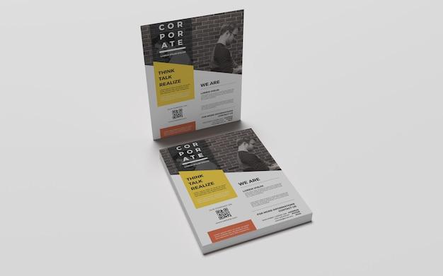 Фотореалистичные макеты a4 flyer