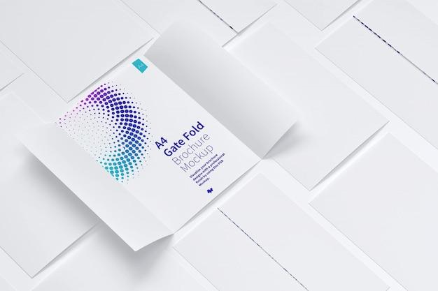 A4 fold brochure mockup pattern