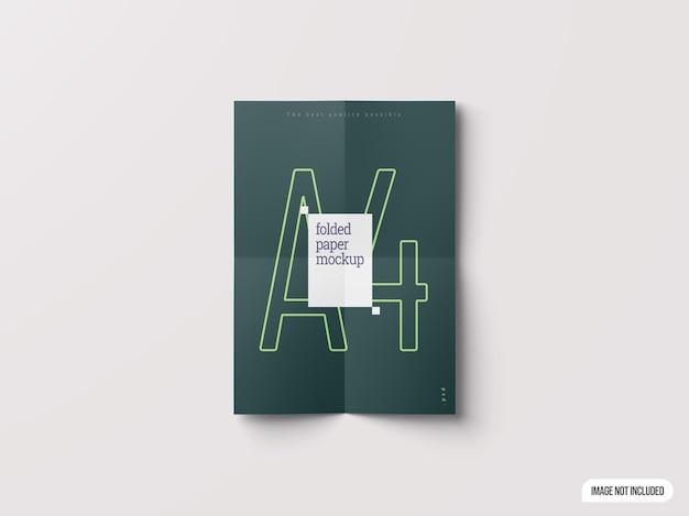 A4折紙モックアップ