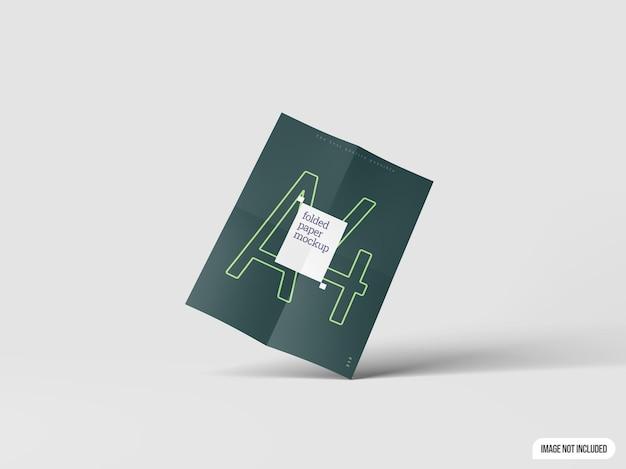A4 folded paper mockup