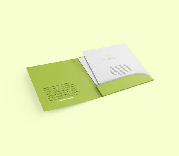 A4 folder brochure mockup