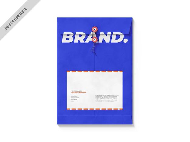 A4 folder envelope mockup template