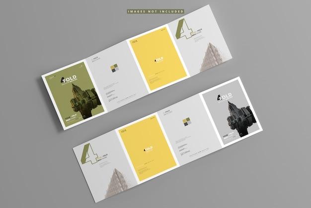 A4 four fold brochure mockup