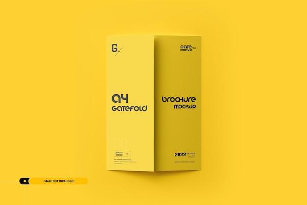 A4 gatefold brochure mockup