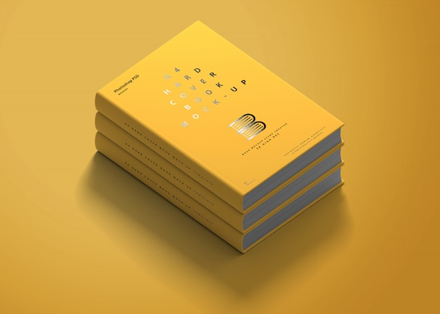 A4 hard cover book mockup