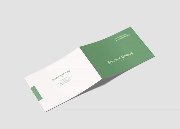 A4 landscape brochure mock-up