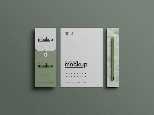 Бланк формата а4 с макетом конверта