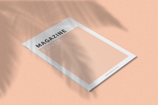 Обложка журнала a4, макет, вид слева