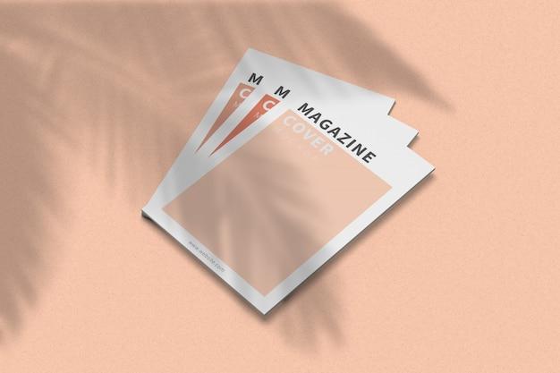 Обложка журнала a4, макет, вид справа