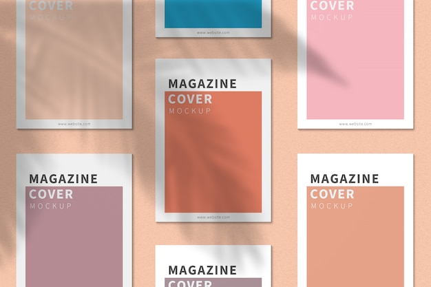 A4 잡지 표지 이랑 평면도 프리미엄 PSD 파일