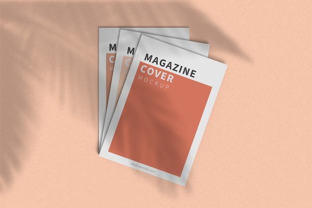 Обложка журнала a4, макет, вид сверху