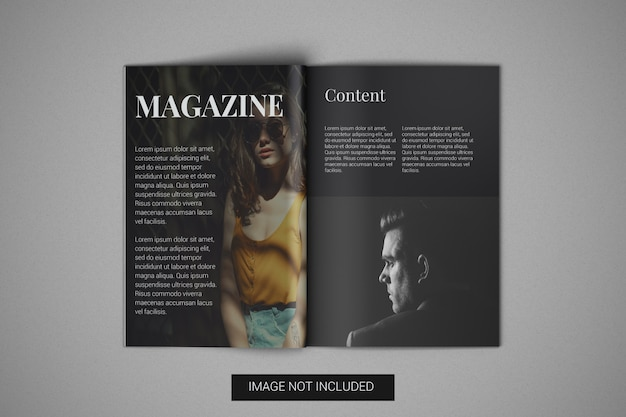 A4 magazine mockup top view