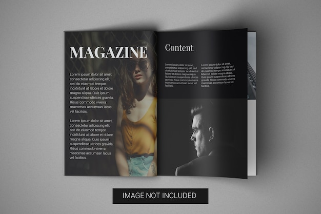 Вид сверху макета журнала а4