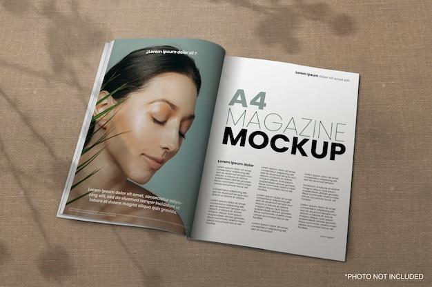 A4 잡지 목업