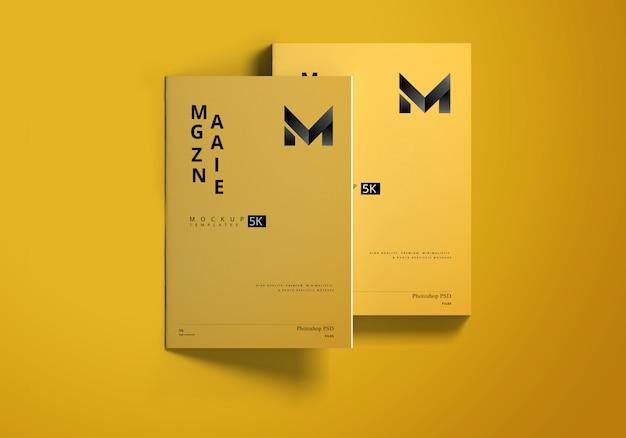 A4 magazine mockup Premium Psd