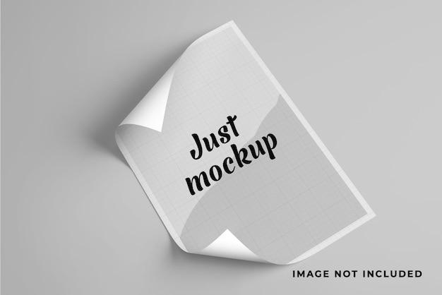 Мокап a4 для уникального дизайна