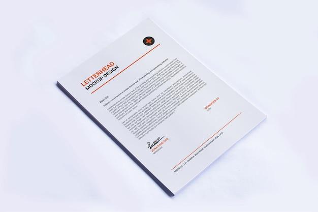 A4 page letterhead mockup design
