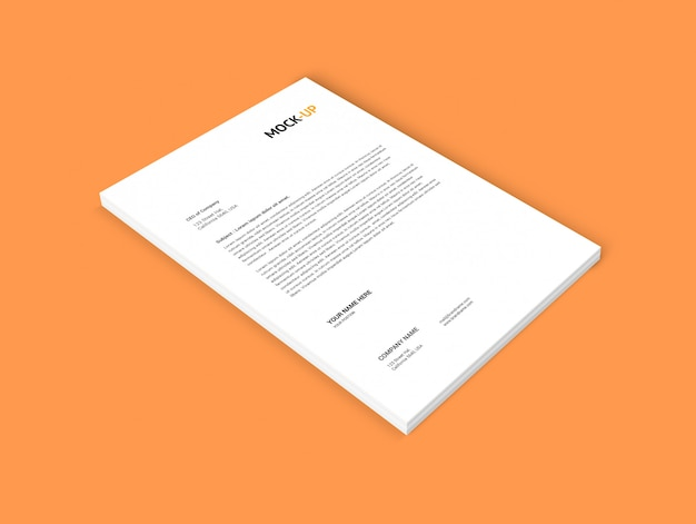 A4 페이지 모형
